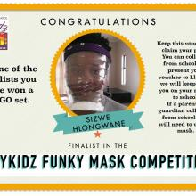 Funky face mask competition finalist