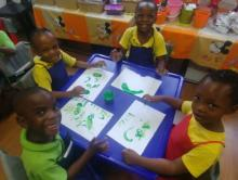 Grade R's painting