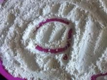 letter formation using flour, salt, sugar or sand.